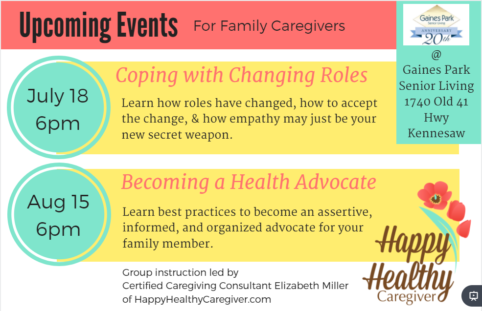 2017 Events for Caregivers
