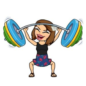 Bitmoji weightlifter