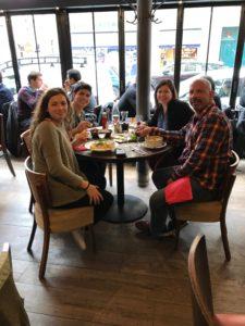 Cafe Roussilon off Rue Cler in Paris