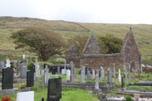 ruins and gravestone ireland