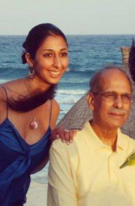 Priya Soni and her dad