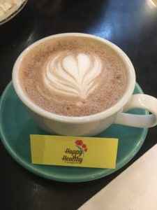 happy healthy caregiver conference coffee