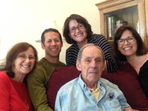 tara and her family with dad with Alzheimers
