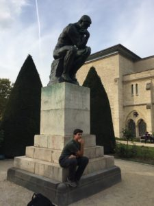 Rodin Museum Thinker statue Paris September