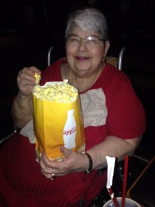 aging activity taking mother to movie