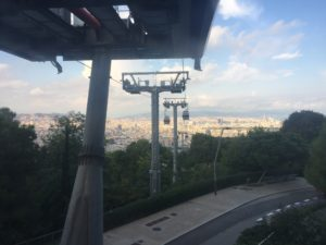 Cable Car Barcelona View Montjuic