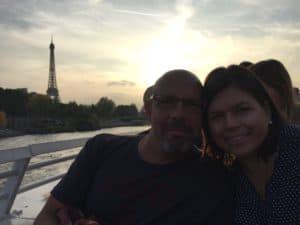 Paris twilight Seine cruise September