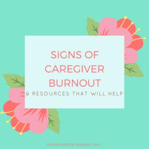 Signs of Caregiver Burnout
