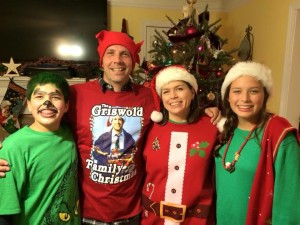 A snapshot of us at an ugly christmas Sweater party last year.