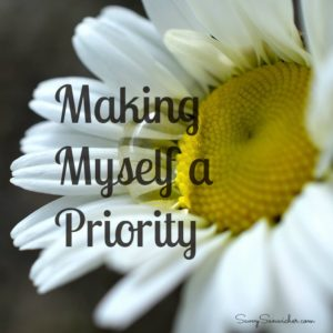 making myself a priority